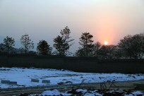 Snowing Sunset in 西安 Xi'An